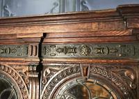 Victorian Carved Oak Secretaire Bookcase (16 of 25)