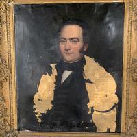 Antique large Georgian oil painting portrait of a gentleman Stanley Jones of Broadgate, Ludlow (4 of 13)