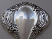 Art Nouveau 1909 Solid Hallmarked Silver Hand Mirror (2 of 13)