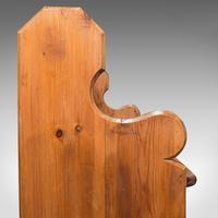 Antique Bench Seat, English, Pine, Pew, Ecclesiastic Taste, Victorian c.1900 (9 of 12)