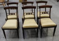 1940's Set 6 Mahogany Barback Dining Chairs + Pop out Seats