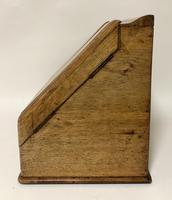 Antique Oak Desktop Stationery Cabinet with Calendar (4 of 12)