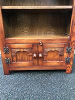 Carved Oak Open Bookcase (6 of 7)