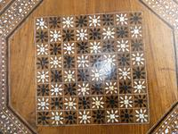 Indian Octagonal Folding Chess Top Table (2 of 8)