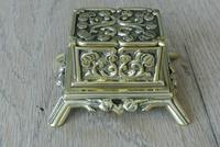 Fine Small Aesthetic Movement Brass Inkwell c.1890 (7 of 7)
