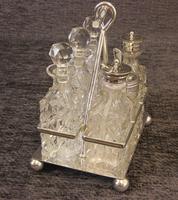 Antique Silver Plated Six Bottle Glass Cruet (2 of 13)