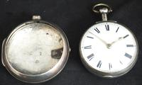 Great Antique Silver Pair Case Pocket Watch Fusee Verge Escapement Key Wind Enamel Dial Johnson London (6 of 10)