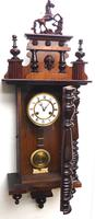 Victorian 8-day Wall Clock – Antique Striking Vienna Wall Clock by Hac (13 of 14)