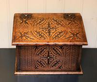 Solid Oak Carved Box (4 of 8)