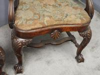 Pair of Queen Anne Style Walnut Armchairs (11 of 17)