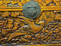 Chinese Camphor Wood Carved Birds & Flowers Chest Coffee Table (15 of 34)