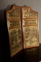 Good looking decorative pair of oriental gilded wall hangings (5 of 8)