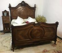 Antique French Stunning Huge Oak Bed Frame & Pot Cupboard (16 of 16)