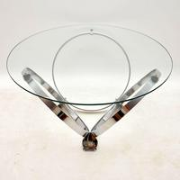 1970's Chrome & Glass Coffee Table by Knut Hesterberg (5 of 8)