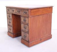 18th Century Mahogany Pedestal Writing Desk (6 of 12)