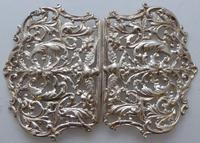 Large Victorian 1897 Hallmarked Solid Silver Nurses Belt Buckle (6 of 7)
