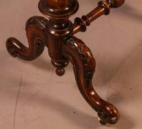 Good Victorian Ladies Sewing Table inlaid with castle ruins (3 of 10)