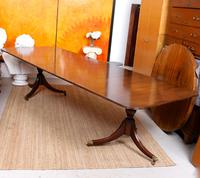 Dining Table & 8 Chairs Mahogany 3.2 Metres Long Hepplewhite Stalker (14 of 16)