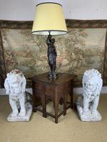 Super Quality 19th Century Lamp Featuring a Maiden (4 of 6)