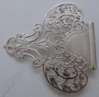 Large Victorian 1899 Hallmarked Solid Silver Nurses Belt Buckle Joseph Rogers (9 of 9)
