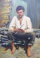 Large oil on canvas The worker Brazilian artist Chediac (Free shipping to Mainland England) (9 of 10)