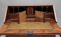 18th Century walnut & feather banded bureau (4 of 17)