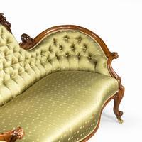 Elaborate Victorian Shaped Walnut Sofa (10 of 12)