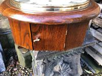 """Victorian Oak Cased 12"""" Dial Station Clock (3 of 8)"""