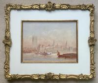 FrederickFREDERICK E.J.Goff Pair of Watercolours 'Westminster from the South West & London Bridge (3 of 5)