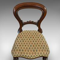Antique Set of 6 Dining Chairs, English, Walnut, Balloon Back, Victorian c.1850 (12 of 12)
