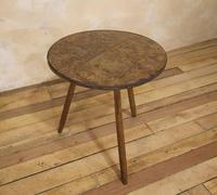George III Burr Elm & Oak Primitive Cricket Table (2 of 10)