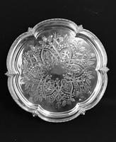 Aesthetic Movement   Chased Silver Plated Drinks Tray (3 of 6)