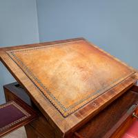 Victorian Leather Top Work Table (4 of 12)