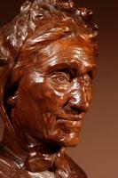Beautiful Expressive Carved Wooden Bust of Woman, Signed B. Tuerlinckx = Boudewijn Tuerlinckx (11 of 11)