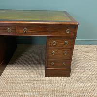 Large Victorian Mahogany Antique Partners Desk (3 of 10)