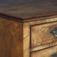 Georgian Style Walnut Bowfront Chest on Stand (3 of 11)