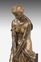19th Century Seated Maiden on a Stepped Black Marble Base (4 of 6)