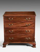 A Small George III Period Mahogany Chest of Drawers of Small Proportions (2 of 3)