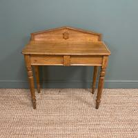 Quality Victorian Golden Oak Antique Hall Table (7 of 7)