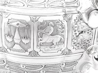 Sterling Silver Three Piece Zodiac Tea Service - Antique Victorian 1882 (16 of 24)