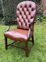 Buttoned Leather Armchair (5 of 8)