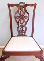 Antique Set of Six Antique Mahogany Chippendale Style Dining Chairs (6 of 9)