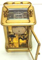 Good Antique French 8-day Carriage Clock Bevelled Case with Bell Alarm Feature (11 of 13)