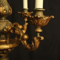 Florentine Gilded Triple Light Polychrome Chandelier (5 of 10)