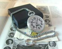 Vintage Pocket Watch 1970s Railroad 9ct White Gold Plated Swiss & West Germany Nos (5 of 12)