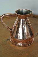 Antique Copper Pint Haystack Measure Castellated Seam Later GR Duty Mark (5 of 11)