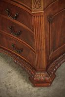 Large Mahogany Serpentine Shaped Partners Desk (8 of 20)