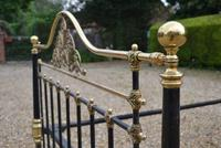 Antique King Size 5ft Half Tester Bedstead by R W Winfield. Bed Restored in your Colour (5 of 19)