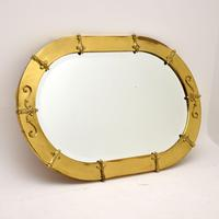 Antique French Brass Framed Mirror (2 of 10)