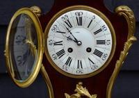 Late 19th Century Mahogany & Ormolu French Mantel Clock (3 of 7)